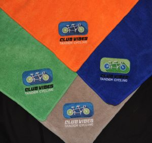 Orange, Green, Blue and Gray towels